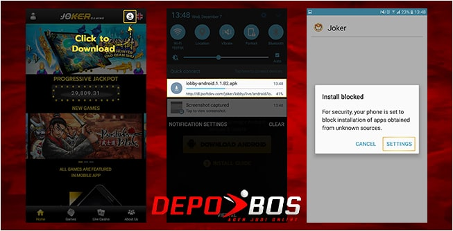 step download android jokerindo pertama