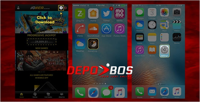 step download ios jokerindo pertama